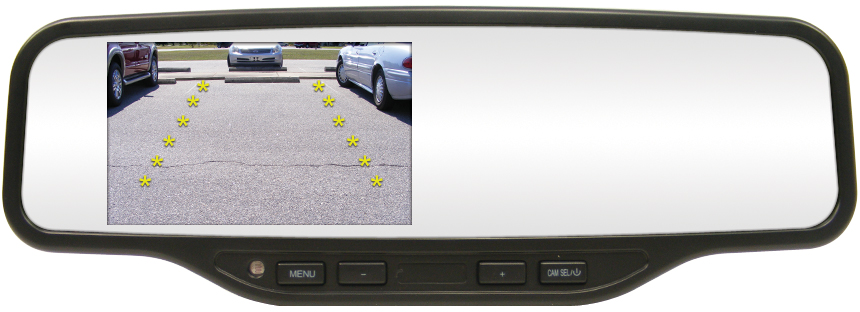 Rostra 250-8072 4.3-inch TFT LCD Mirror/Monitor